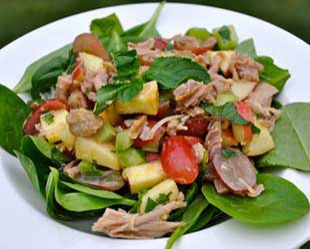 5463d0fb9121554611a8f9841eturkey spinach salad
